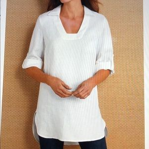 Soft Surroundings White Morgana Tunic Medium